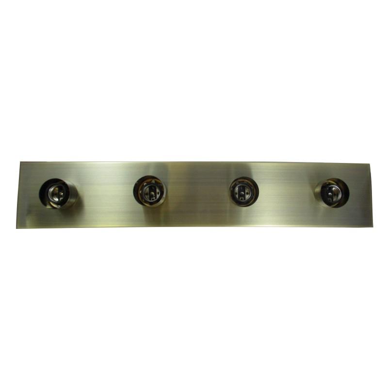 Aplique 4 luces camerino dorado e tecnia tu tienda for Luces camerino